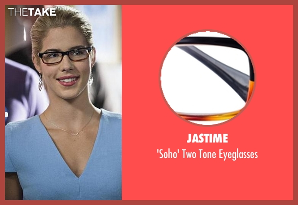 Jastime black eyeglasses from Arrow seen with Felicity Smoak (Emily Bett Rickards)