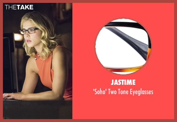 Jastime black eyeglasses from Arrow seen with Felicity Smoak (Emily Bett Rickards)