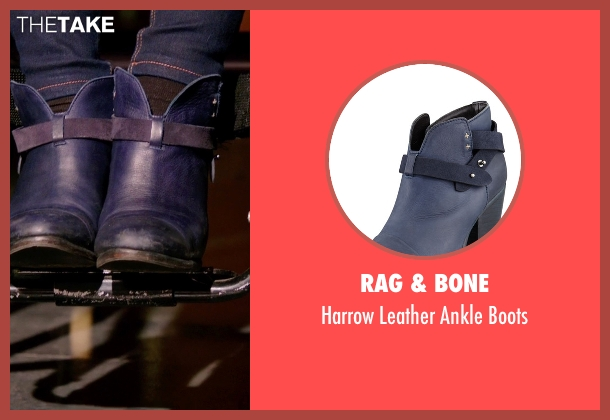 Rag & Bone blue boots from Arrow seen with Felicity Smoak (Emily Bett Rickards)