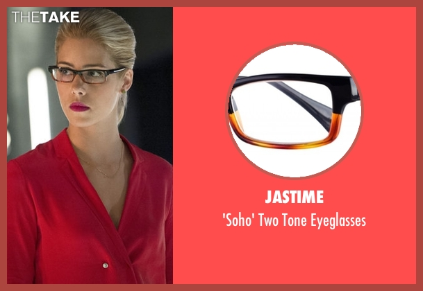 Jastime eyeglasses from Arrow seen with Felicity Smoak (Emily Bett Rickards)