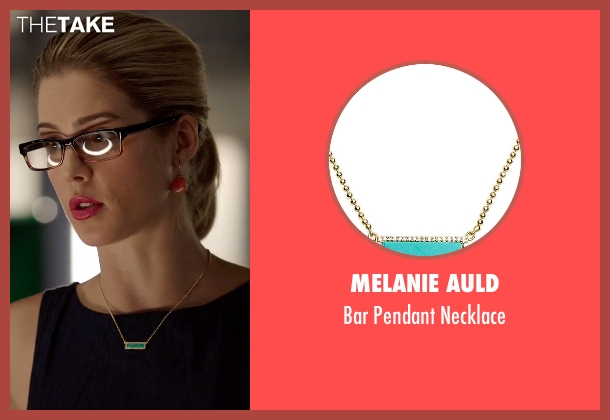 Melanie Auld gold necklace from Arrow seen with Felicity Smoak (Emily Bett Rickards)