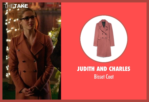 Judith And Charles pink coat from Arrow seen with Felicity Smoak (Emily Bett Rickards)