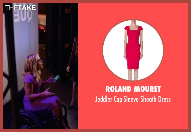Roland Mouret purple dress from Arrow seen with Felicity Smoak (Emily Bett Rickards)