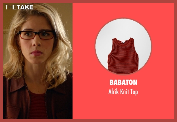 Babaton red top from Arrow seen with Felicity Smoak (Emily Bett Rickards)