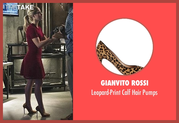 Gianvito Rossi yellow pumps from Arrow seen with Felicity Smoak (Emily Bett Rickards)
