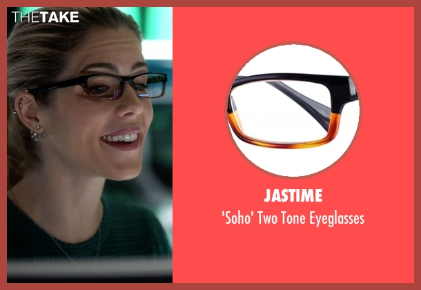 Jastime black eyeglasses from The Flash seen with Felicity Smoak (Emily Bett Rickards)