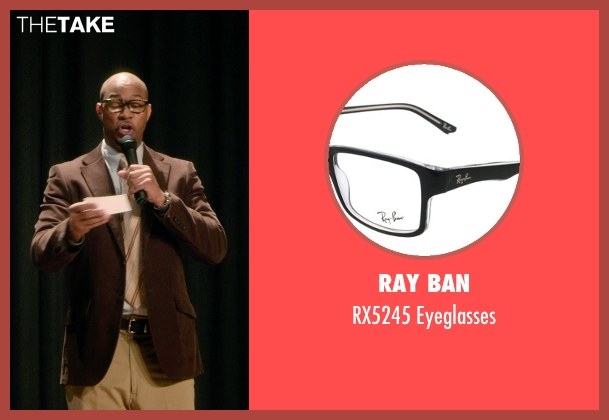 Ray Ban black eyeglasses from Barely Lethal seen with Finesse Mitchell (Principal Weissman)