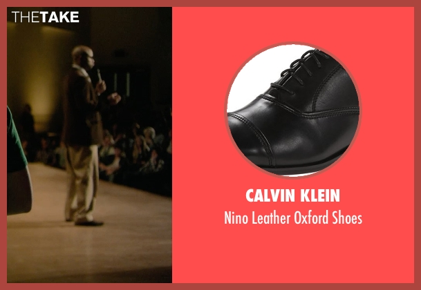 Calvin Klein black shoes from Barely Lethal seen with Finesse Mitchell (Principal Weissman)