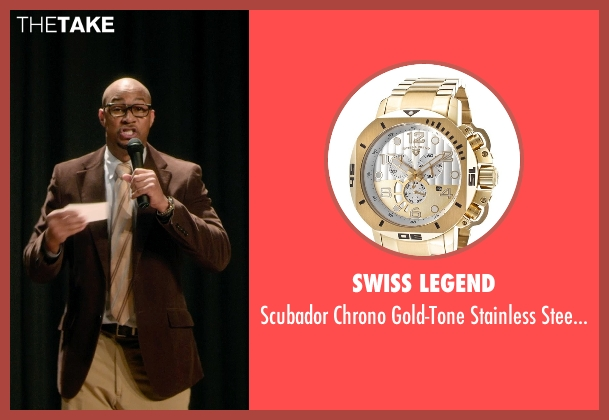 Swiss Legend gold watch from Barely Lethal seen with Finesse Mitchell (Principal Weissman)