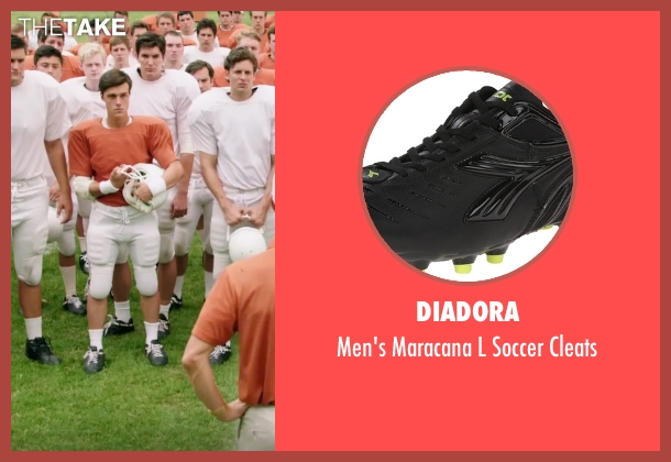 Diadora black cleats from My All American seen with Finn Wittrock (Freddie Steinmark)