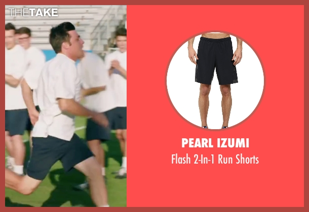 Pearl Izumi black shorts from My All American seen with Finn Wittrock (Freddie Steinmark)