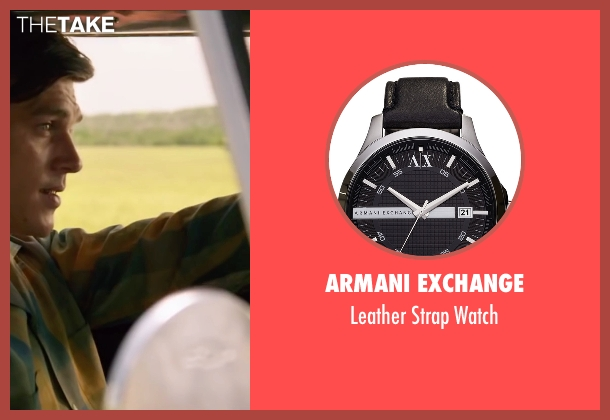 Armani Exchange black watch from My All American seen with Finn Wittrock (Freddie Steinmark)