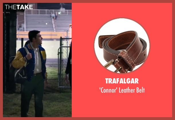 Trafalgar brown belt from My All American seen with Finn Wittrock (Freddie Steinmark)