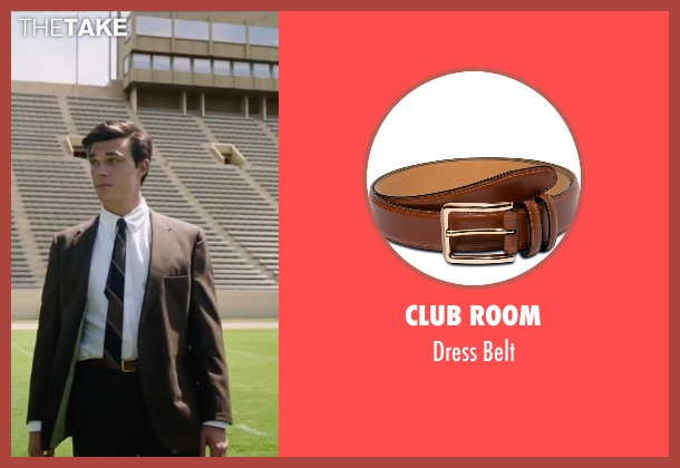 Club Room brown belt from My All American seen with Finn Wittrock (Freddie Steinmark)