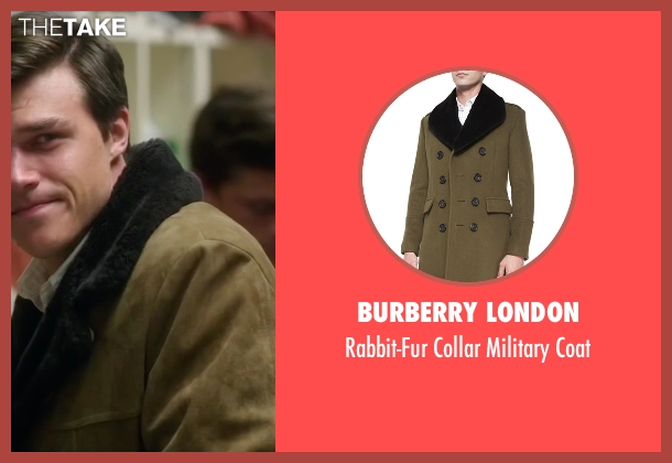Burberry London brown coat from My All American seen with Finn Wittrock (Freddie Steinmark)