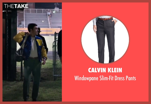 Calvin Klein gray pants from My All American seen with Finn Wittrock (Freddie Steinmark)