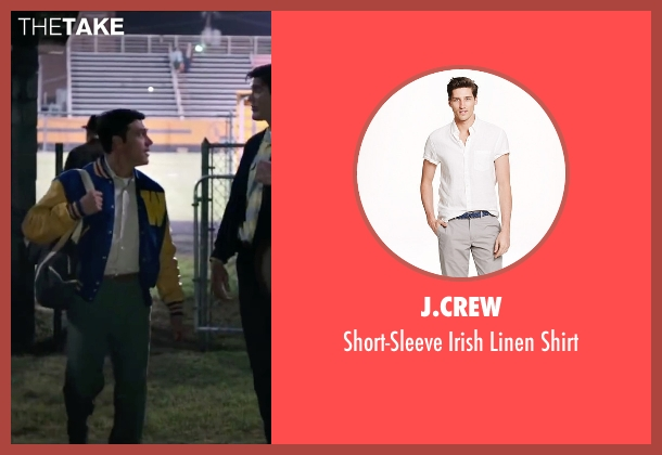 J.Crew white shirt from My All American seen with Finn Wittrock (Freddie Steinmark)