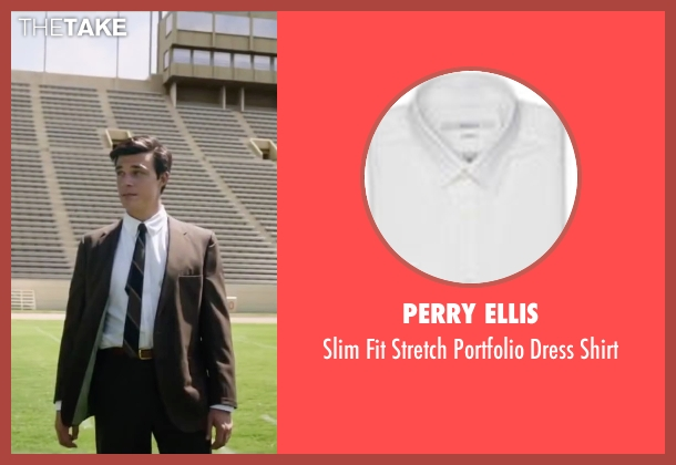 Perry Ellis white shirt from My All American seen with Finn Wittrock (Freddie Steinmark)