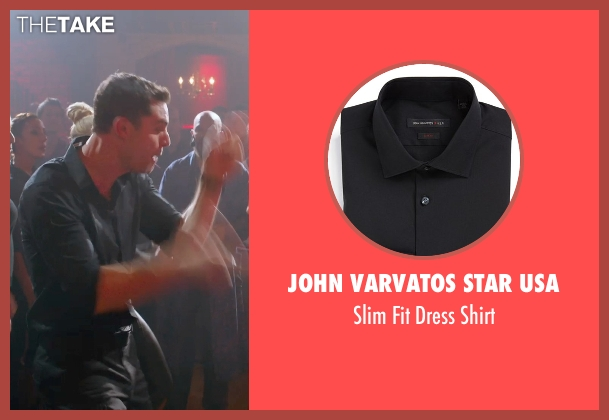 John Varvatos Star USA black shirt from Pitch Perfect 2 seen with Flula Borg (Unknown Character)