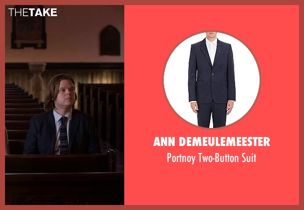 Ann Demeulemeester blue suit from Daredevil seen with Foggy Nelson (Elden Henson)