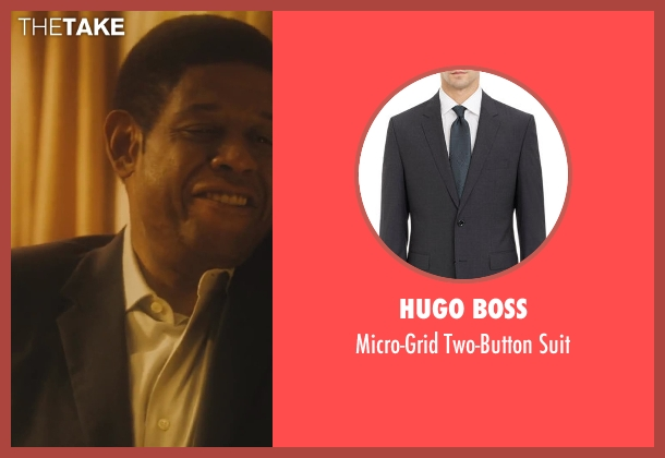 Hugo Boss black suit from Lee Daniels' The Butler seen with Forest Whitaker (Cecil Gaines)