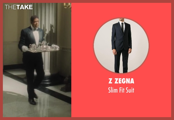 Z Zegna black suit from Lee Daniels' The Butler seen with Forest Whitaker (Cecil Gaines)