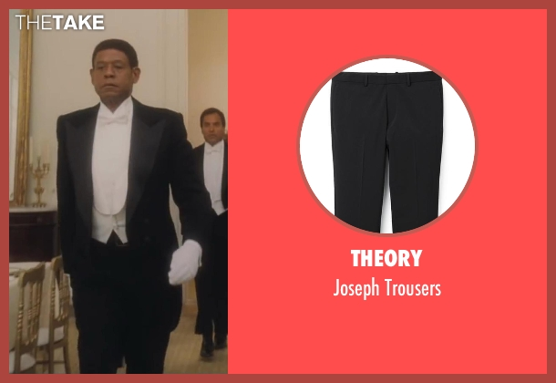 Theory black trousers from Lee Daniels' The Butler seen with Forest Whitaker (Cecil Gaines)