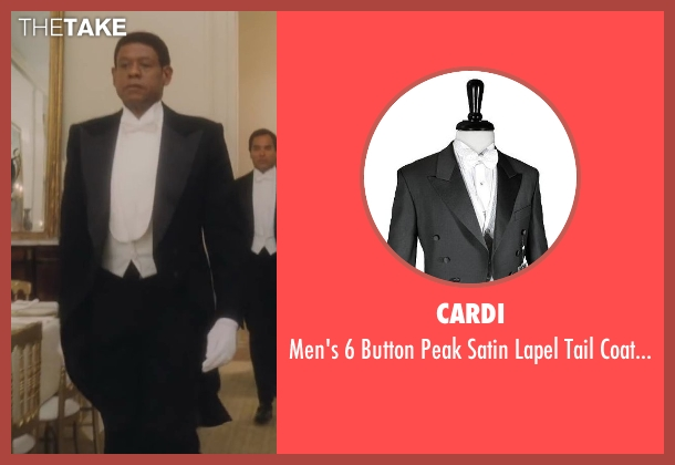 Cardi black tuxedo from Lee Daniels' The Butler seen with Forest Whitaker (Cecil Gaines)