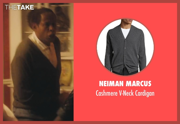 Neiman Marcus gray cardigan from Lee Daniels' The Butler seen with Forest Whitaker (Cecil Gaines)