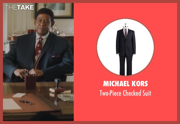 Michael Kors gray suit from Lee Daniels' The Butler seen with Forest Whitaker (Cecil Gaines)
