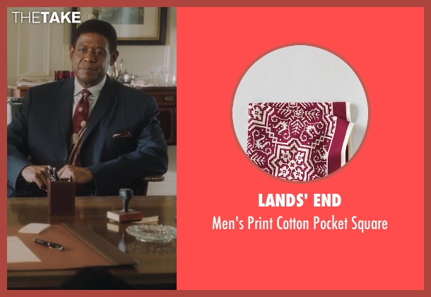 Lands' End red square from Lee Daniels' The Butler seen with Forest Whitaker (Cecil Gaines)