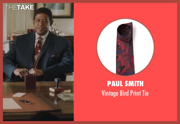 Paul Smith red tie from Lee Daniels' The Butler seen with Forest Whitaker (Cecil Gaines)