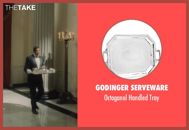 Godinger Serveware tray from Lee Daniels' The Butler seen with Forest Whitaker (Cecil Gaines)