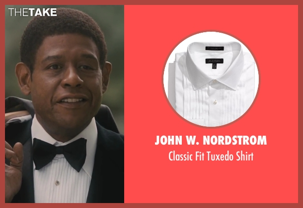 John W. Nordstrom white shirt from Lee Daniels' The Butler seen with Forest Whitaker (Cecil Gaines)