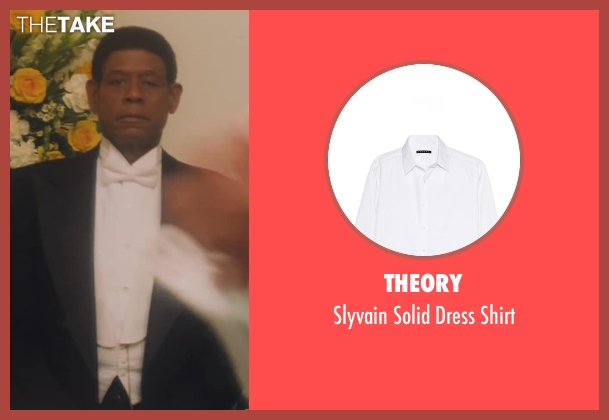 Theory white shirt from Lee Daniels' The Butler seen with Forest Whitaker (Cecil Gaines)