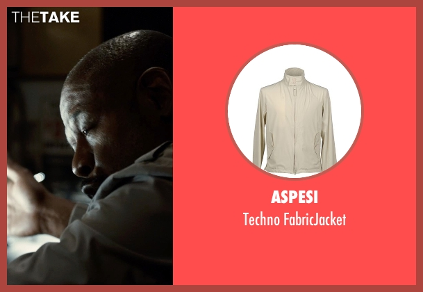 Aspesi beige fabricjacket from Southpaw seen with Forest Whitaker (Titus 'Tick' Wills)