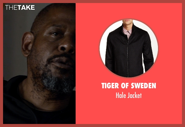 Tiger of Sweden black jacket from Southpaw seen with Forest Whitaker (Titus 'Tick' Wills)