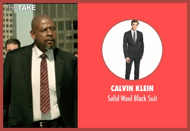 Calvin Klein black suit from Taken 3 seen with Forest Whitaker (Franck Dotzler)