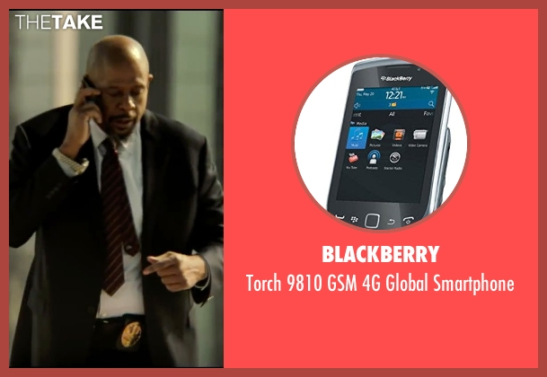 BlackBerry smartphone from Taken 3 seen with Forest Whitaker (Franck Dotzler)
