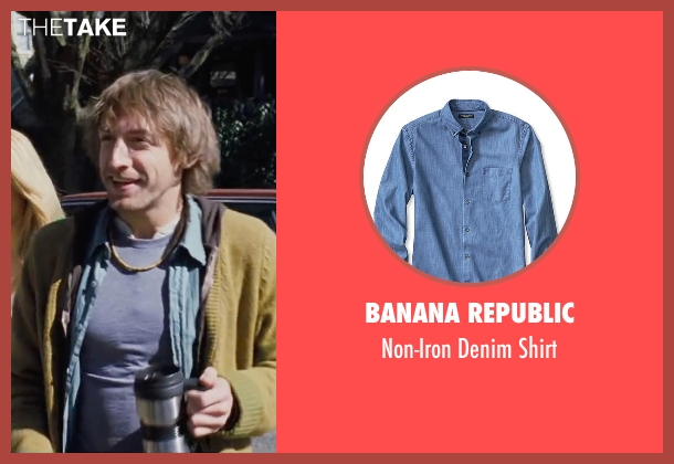 Banana Republic blue shirt from Cabin in the Woods seen with Fran Kranz (Marty)