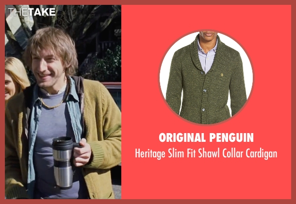 Original Penguin green cardigan from Cabin in the Woods seen with Fran Kranz (Marty)
