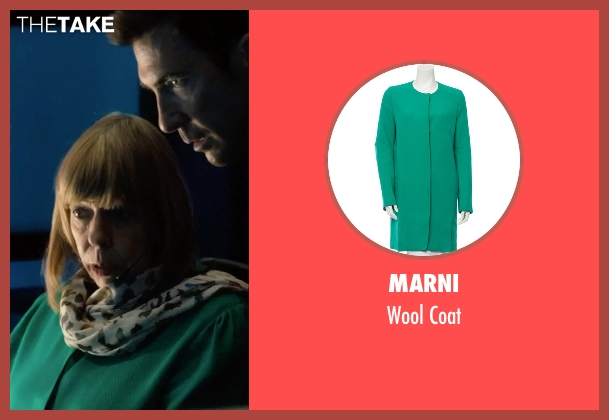 Marni green coat from Survivor seen with Frances de la Tour (Sally)