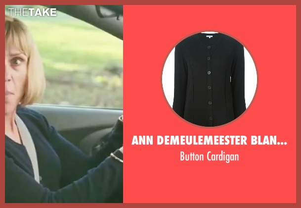 Ann Demeulemeester Blanche black cardigan from Burn After Reading seen with Frances McDormand (Linda Litzke)