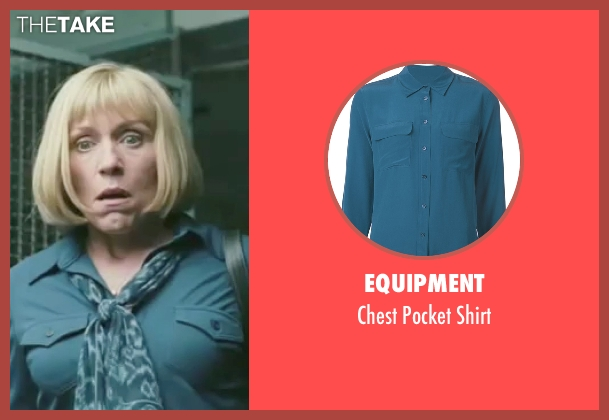 Equipment blue shirt from Burn After Reading seen with Frances McDormand (Linda Litzke)