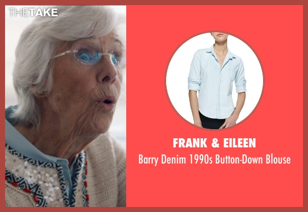 Frank & Eileen blue blouse from And So It Goes seen with Frances Sternhagen