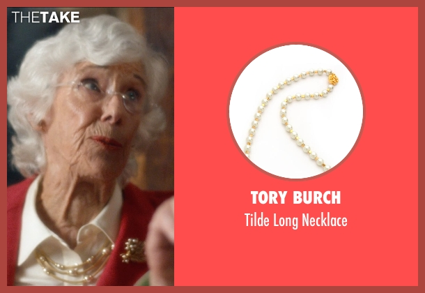 Tory Burch gold necklace from And So It Goes seen with Frances Sternhagen (Claire)