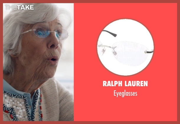 Ralph Lauren silver eyeglasses from And So It Goes seen with Frances Sternhagen