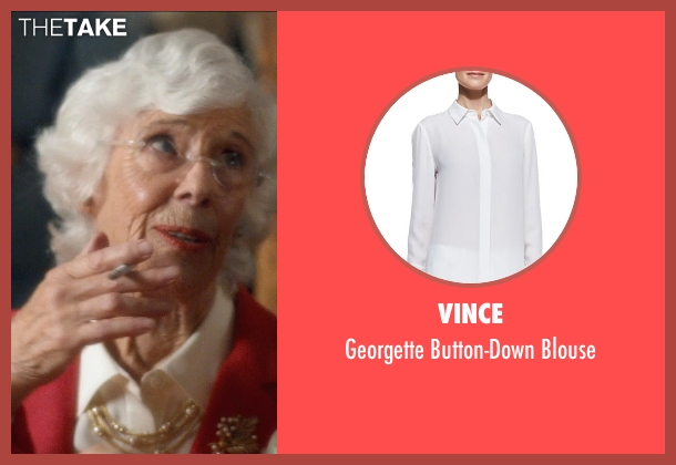 Vince white blouse from And So It Goes seen with Frances Sternhagen