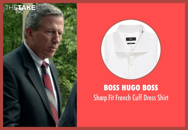 Boss Hugo Boss white shirt from Need for Speed seen with Frank Brennan (60 Year Old Man as actor)