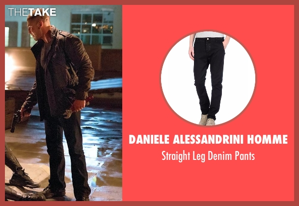 Daniele Alessandrini Homme black pants from Daredevil seen with Frank Castle / The Punisher (Jon Bernthal)